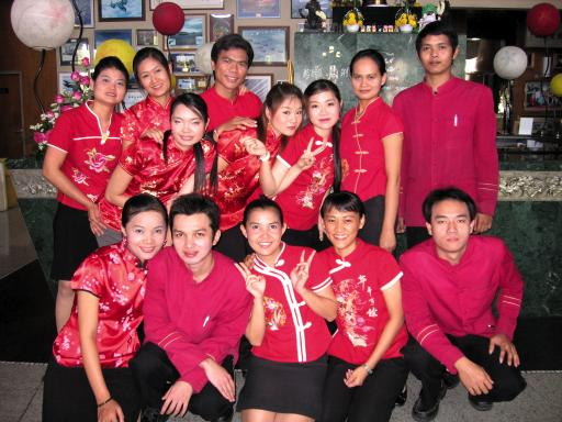 ms acs colleagues with their chinese new year outfits - Chinese New Year Outfit